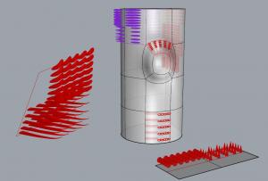 déformation des éléments de base en fonction des surfaces de référence et des surfaces cibles