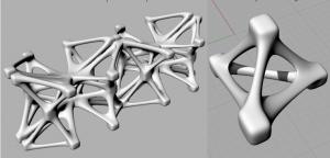 Volumes créés à partir de boîtes qui se lient avec des ponts Création des volumes plus complexes en utilisant copie et symétrie